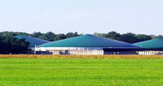 Community Anaerobic Digestion combined heat and power  (CHP) installation.